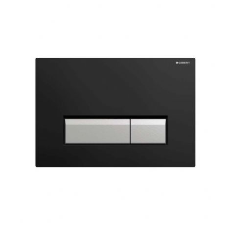 Geberit Sigma40 Black Plastic Odour Extracting Dual Flush Plate - 115.600.KR.1